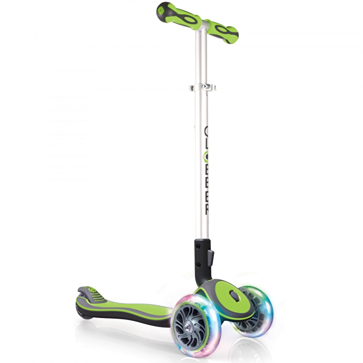 Globber My Free Elite Lights Complete Scooter - Lime Green