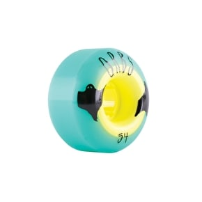 Welcome Orbs Poltergeists Skateboard Wheels - Teal - 54mm