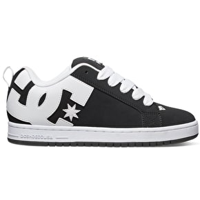 DC Court Graffik Shoes - Black/White/Black