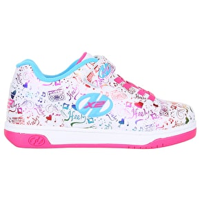 Heelys X2 Dual Up - White/Rainbow/Print
