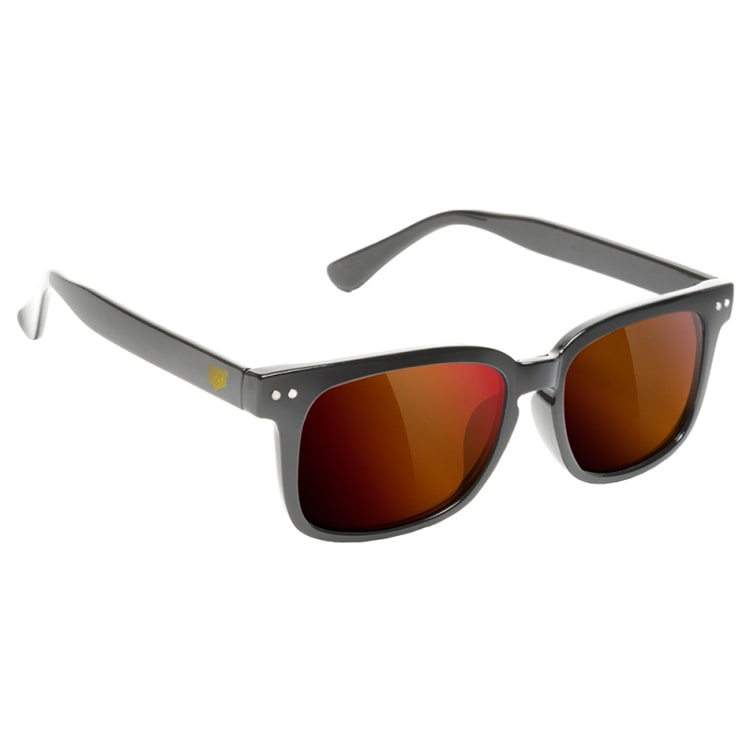 Glassy Sunhaters Lox Sunglasses - Matte Black/Red Mirror