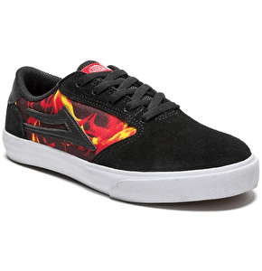 Lakai Pico x Spitfire Kids Skate Shoes - Black Suede