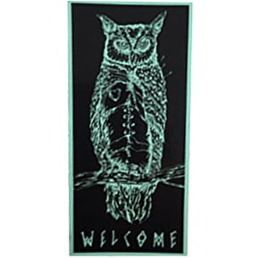 Welcome Heartwise Skateboard Sticker - Black/Teal 5