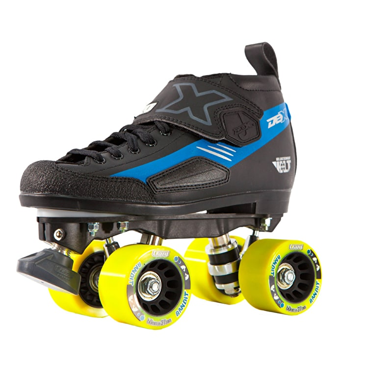 Crazy Skates DBXJ Adjustable Junior Derby Skates - Blue