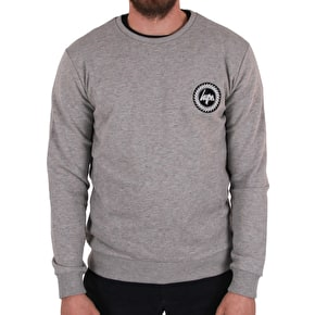 Hype Flec Crest Crewneck - Grey/Blue