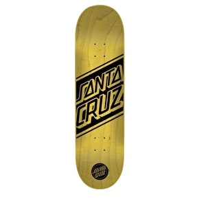 Santa Cruz Black Strip Team Skateboard Deck - Yellow 8.3