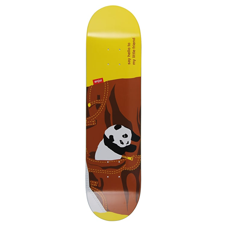 Enjoi Little Friend R7 Skateboard Deck - Brown 8""
