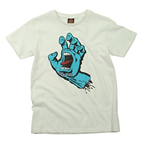Santa Cruz Kids T-Shirt - Screaming Hand White