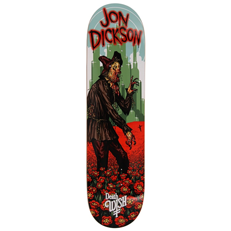 Deathwish Nightmare In Emerald Skateboard Deck - Dickson 8.125""