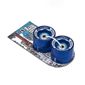 Karnage Super Smooth 59mm Skateboard Wheels - Blue - 2 Pack