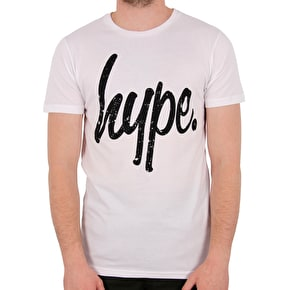 Hype Distressed T-Shirt - White/Black