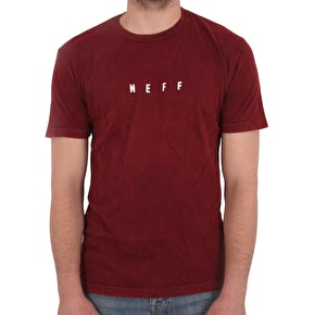 Neff Lambert Washed T-Shirt - Maroon