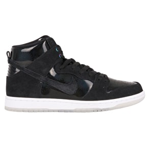 Nike SB Zoom Dunk High Pro Skate Shoes - Black/Black/White