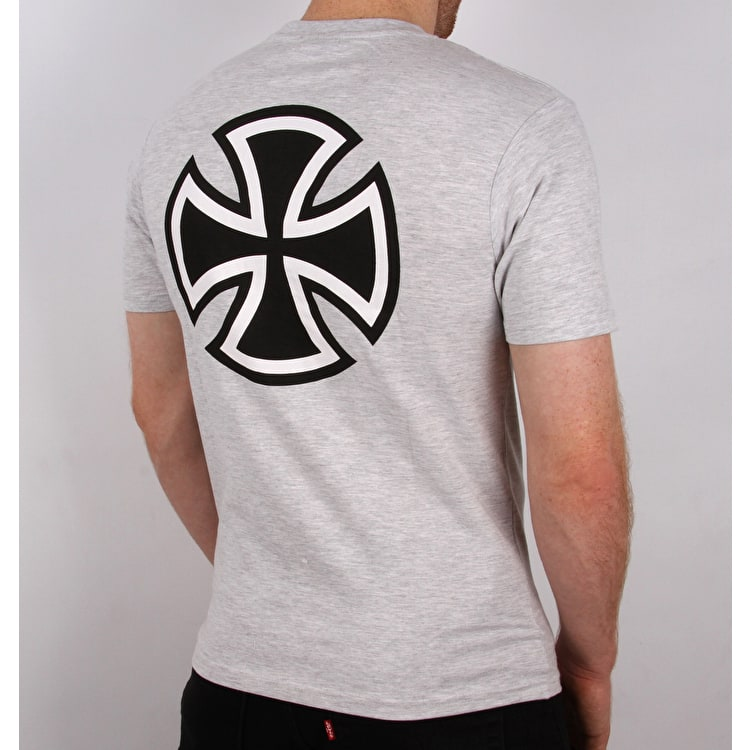 Independent Bar Cross T Shirt - Athletic Heather