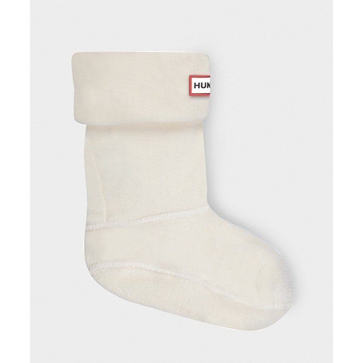 B-Stock Hunter Kids Chunky Cable Wellington Boots Socks Ivory - Small