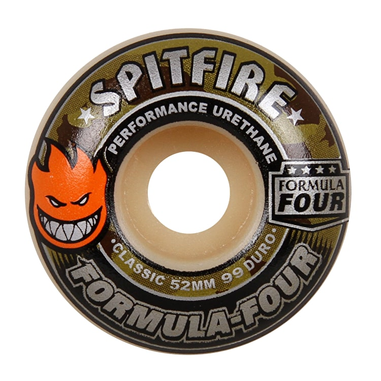 Spitfire Formula Four Covert Classic 99D Skateboard Wheels - Natural 52mm