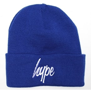 Hype Script Beanie - Royal/White