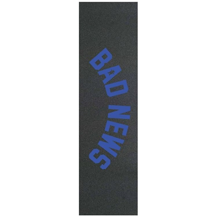 Grizzly Bad News Stamp Skateboard Grip Tape - Royal