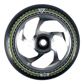 AO Mandala 5 Hole 110mm Scooter Wheel - Silver