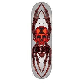 Santa Cruz Dressen Widow Skull Pro Skateboard Deck - 8.6