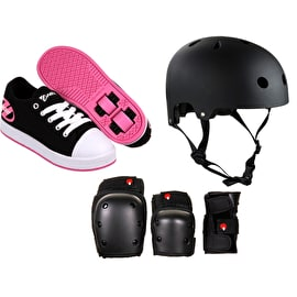 Heelys X2 Fresh - Black/Pink Bundle