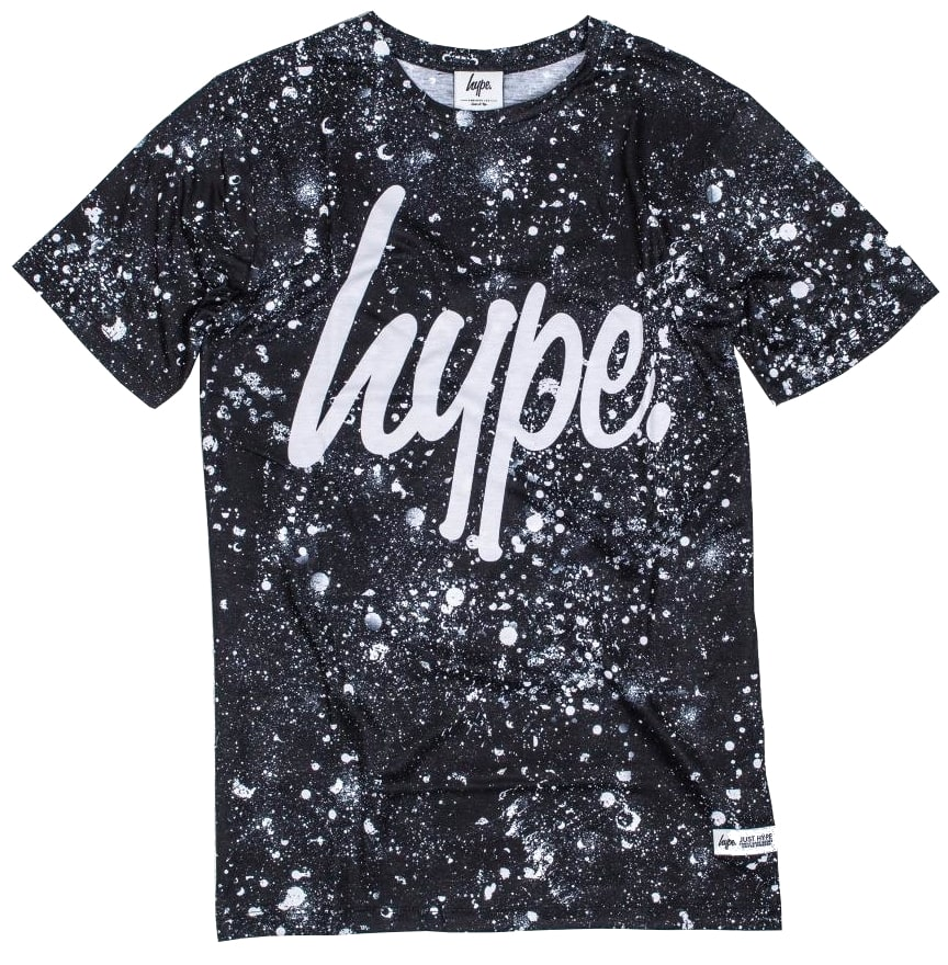 Hype script speckle t shirt black white hype bags for Hype t shirt kids