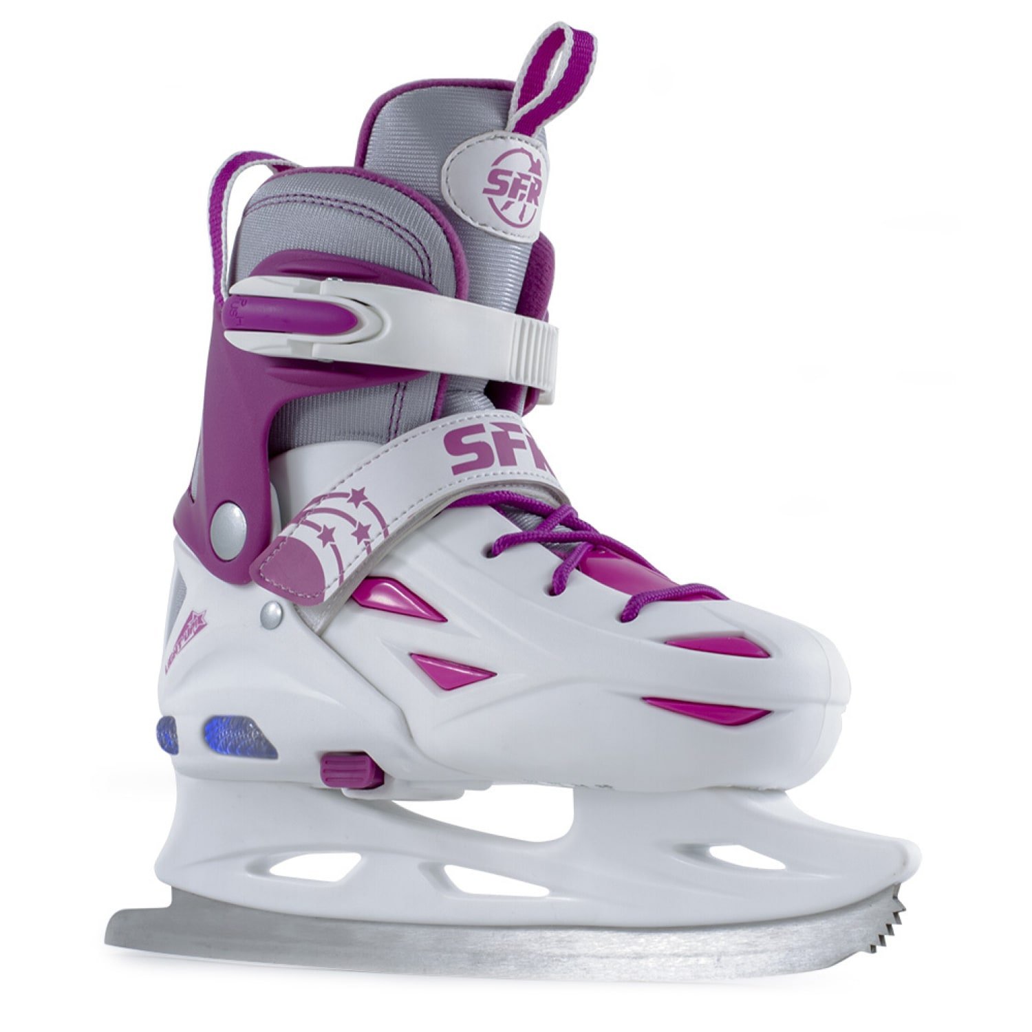 Sfr Ice Skates Eclipse Lights White Pink Ice Skates