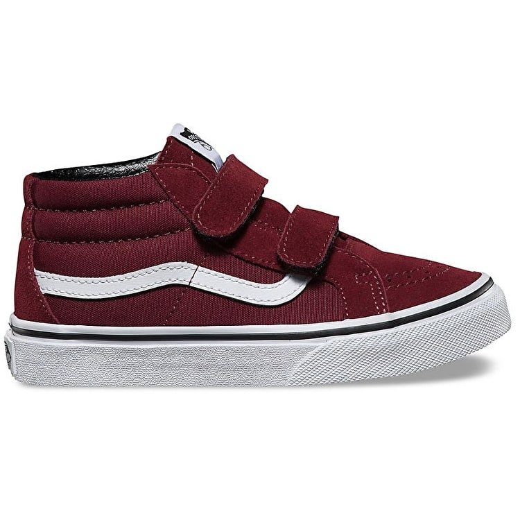 Vans Sk8-Mid Reissue V Skate Shoes - (Canvas & Suede) Port