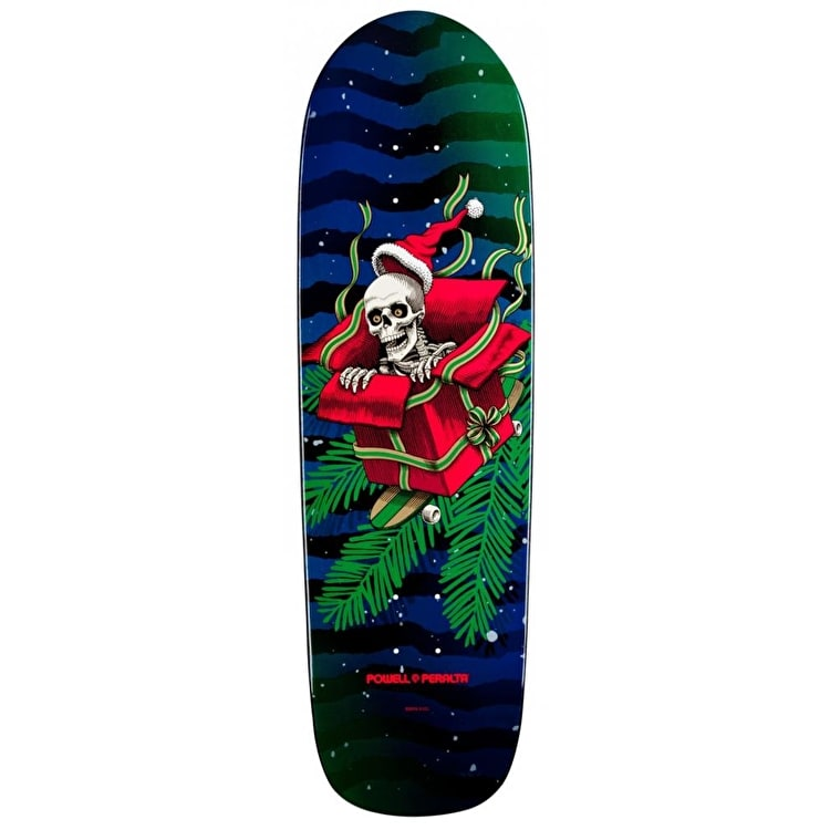 Powell Peralta Skateboard Deck - Xmas Green/Red 9.5""