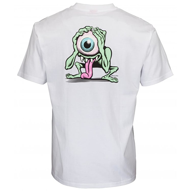 Santa Cruz Eyegore T Shirt - White