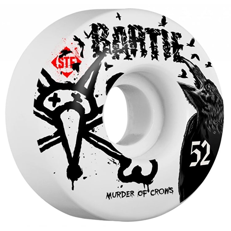 Bones STF Bartie Crows V1 Skateboard Wheels - 52mm