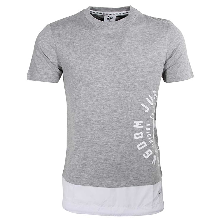 Hype Layered Fishtail T Shirt - Grey
