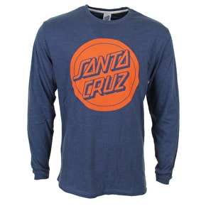 Santa Cruz Reverse Dot LS T-Shirt - Denim Heather