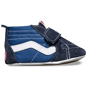 Vans Sk8-Hi Crib Shoes - Navy/Navy