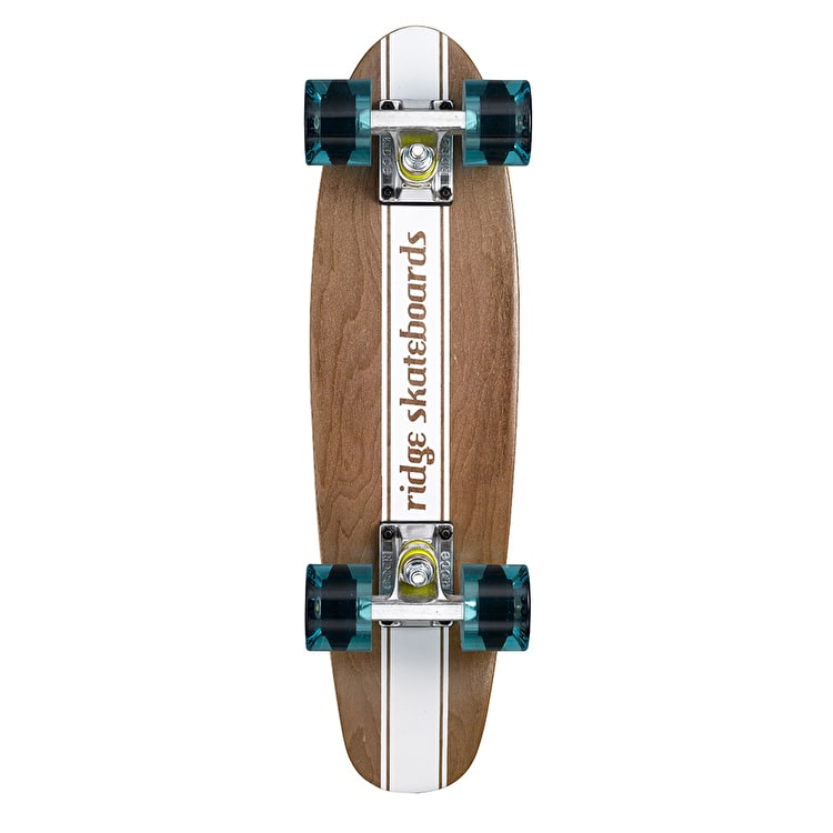 Ridge Mini Cruiser Skateboard - Number Four Dark Dye/Clear Blue 22""