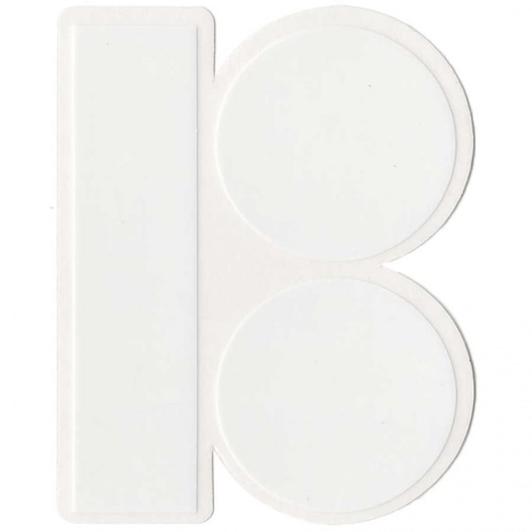 Plan B 'B' Logo Skateboard Sticker - White