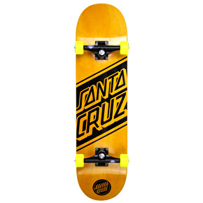 Santa Cruz Black Strip Custom Skateboard - Yellow 8.3