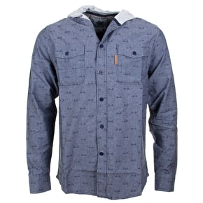 Organika Parkside Custom Woven Shirt - Blue