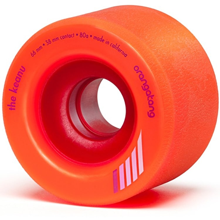 "Orangatang ""Keanu"" 80A Longboard Wheels - Orange 66mm"