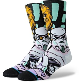 Stance Star Wars - Warped Chewbacca Socks - Black