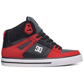 DC Spartan High WC Skate Shoes - Red/Grey/Black