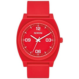 Nixon Time Teller P Corp Watch - Matte Red/White