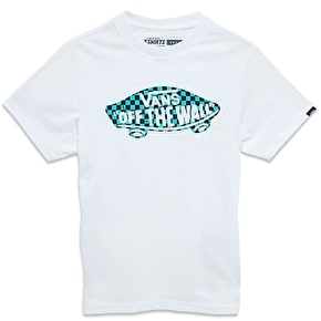 Vans OTW Checker Fill Kids T-Shirt - White/Baltic/Black