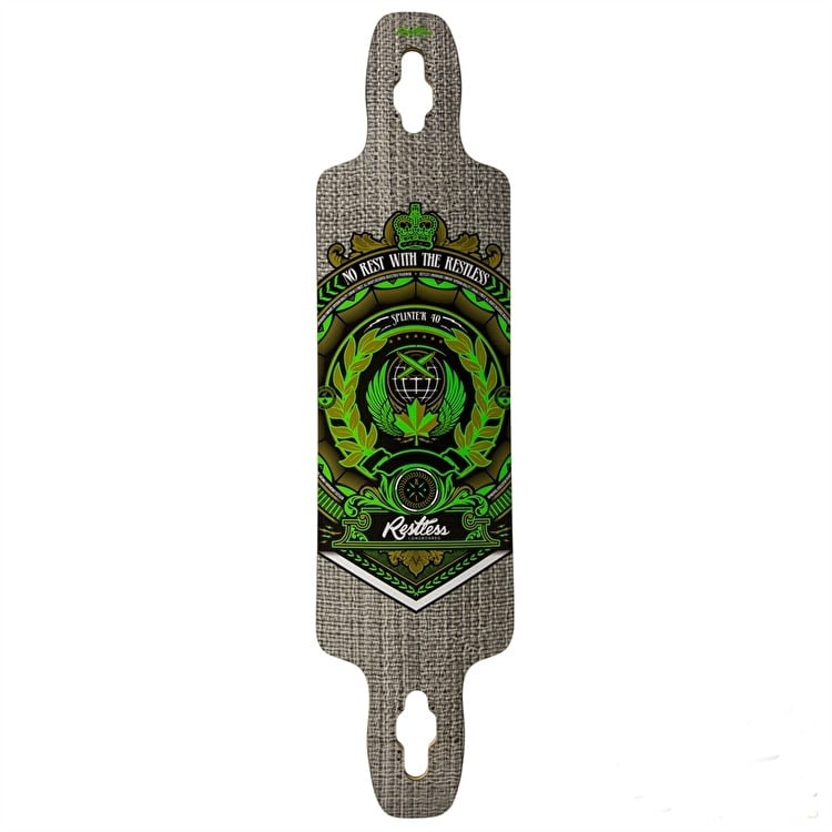 Restless Longboard Deck - Splinter Series Crest 40""