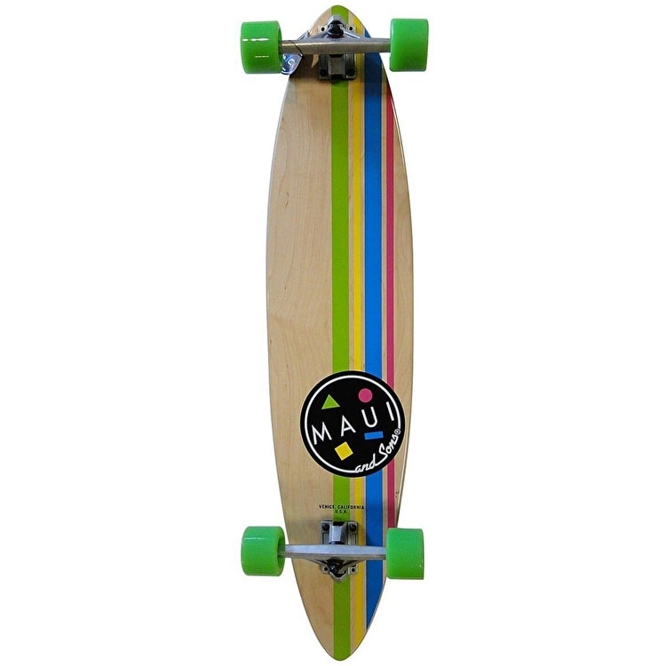 """Maui and Sons Cookie Stripe Pintail Complete Longboard - Natural 39"""""""
