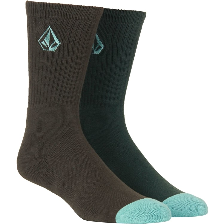 Volcom Full Stone Socks - Jungle Green