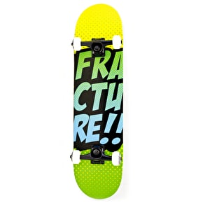 Fracture Skateboard - Comic VT Yellow/Green 7.75