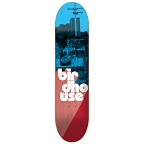 Birdhouse Stacked Logo Skateboard Deck - Blue/Red 8
