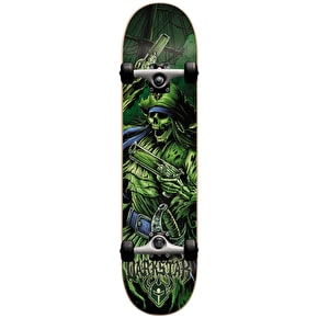 Darkstar Pirate Youth Complete Skateboard - Green 7.25