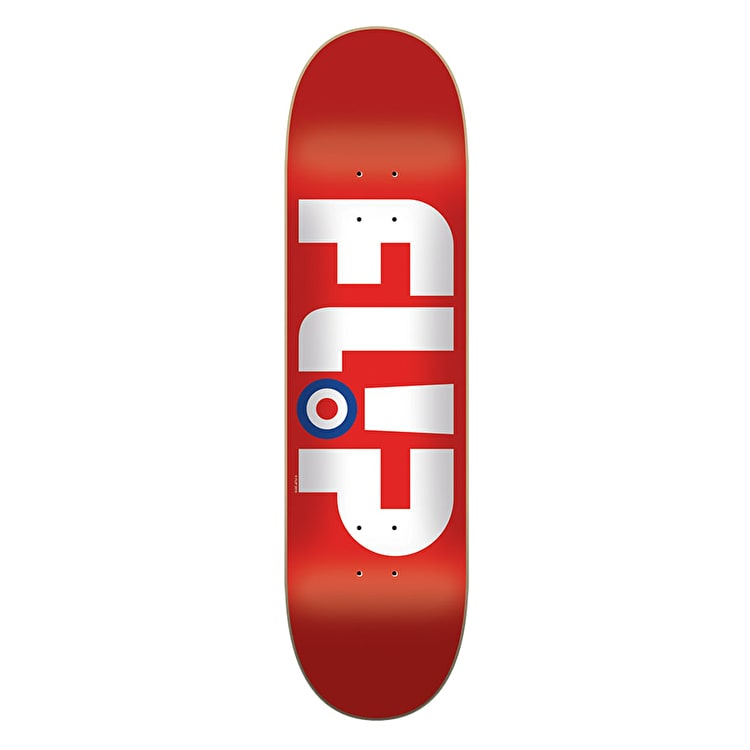 Flip Modyssey Logo Skateboard Deck - Red 8.13""